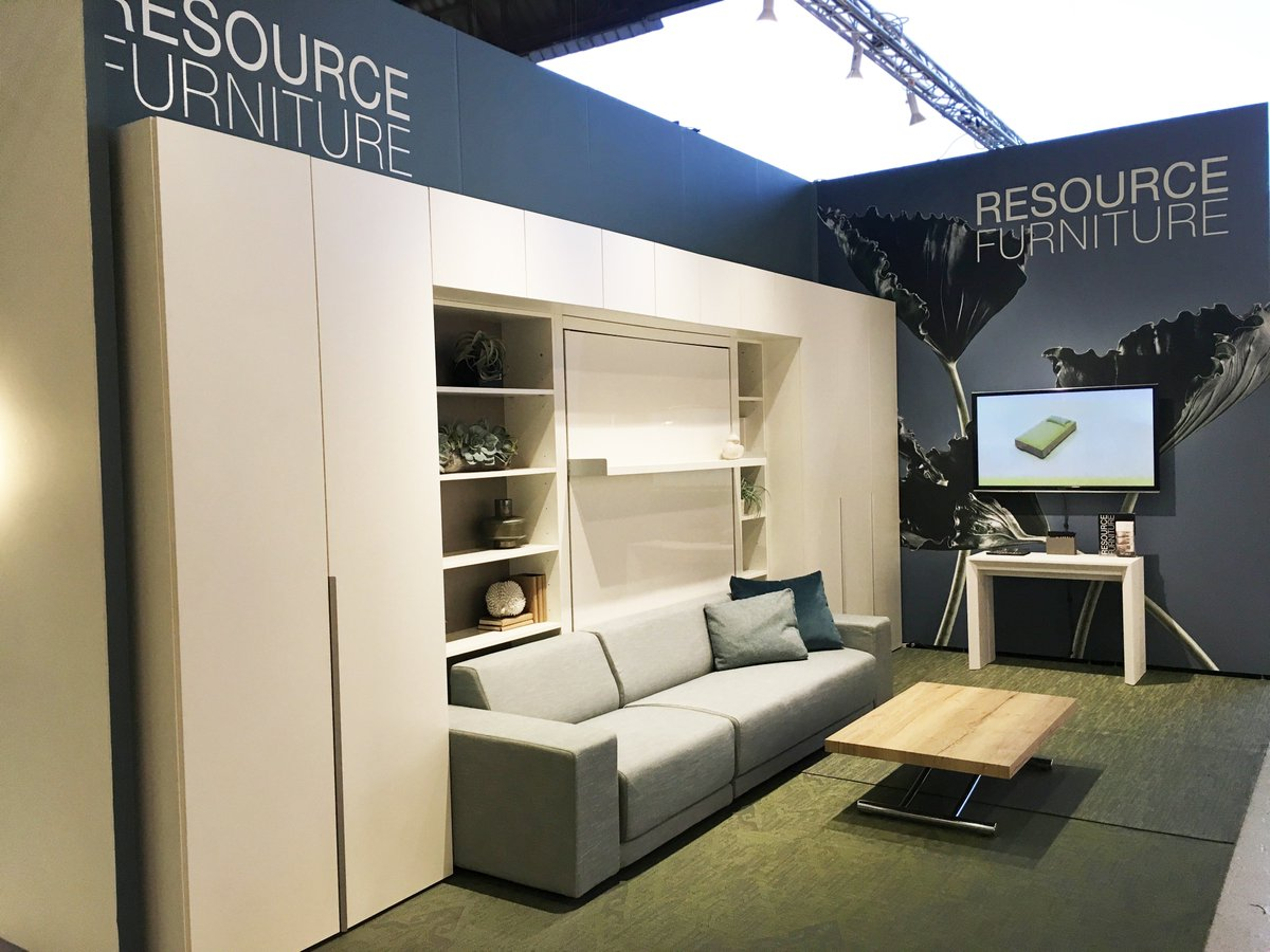 See Our Highlights From The Show, Featuring The Oslo 301 Wall Bed, Goliath  Expanding Console And Passo Height Adjusting Coffee Table #interiordesign  ...