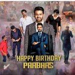 Image for the Tweet beginning: Advance #HappyBirthdayPrabhas, the Rebel Star