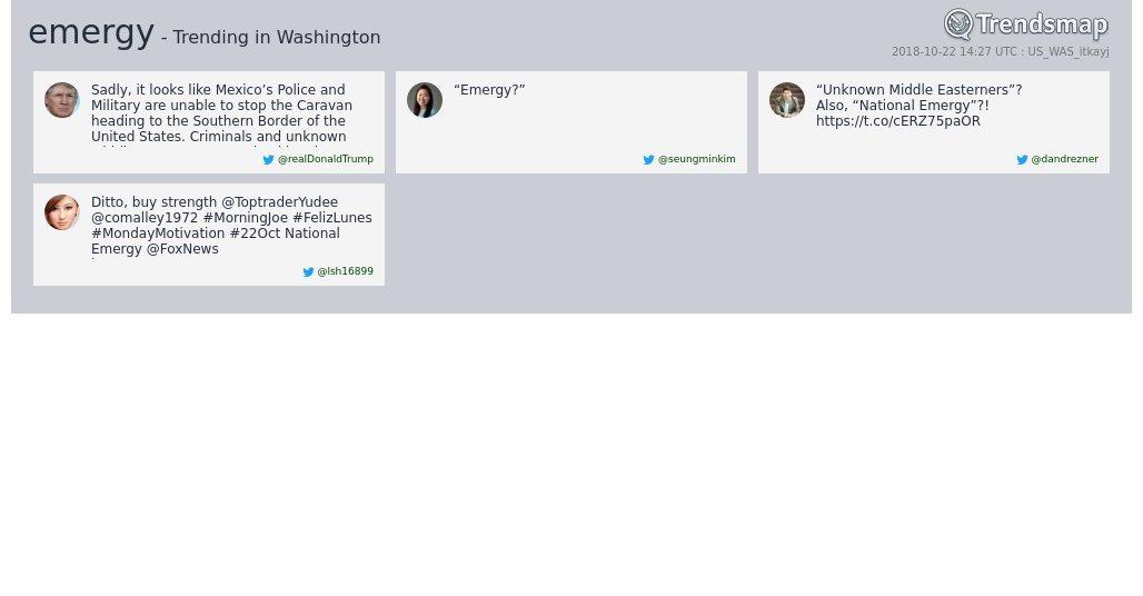 'emergy' is now trending in #DC  https://t.co/Kfqrmu0jiY https://t.co/HREWNTl7Jk