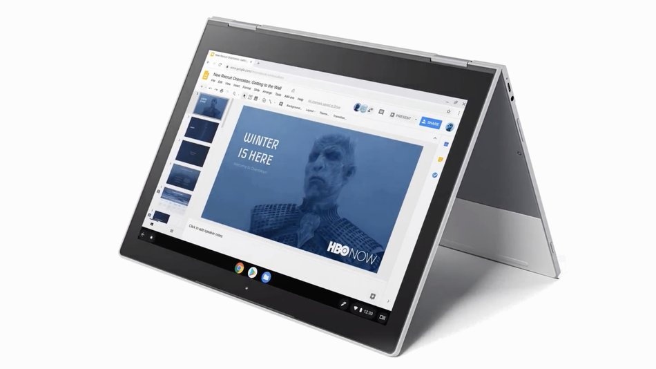 Google apparently hired the Night King from GoT to pitch Chromebook
