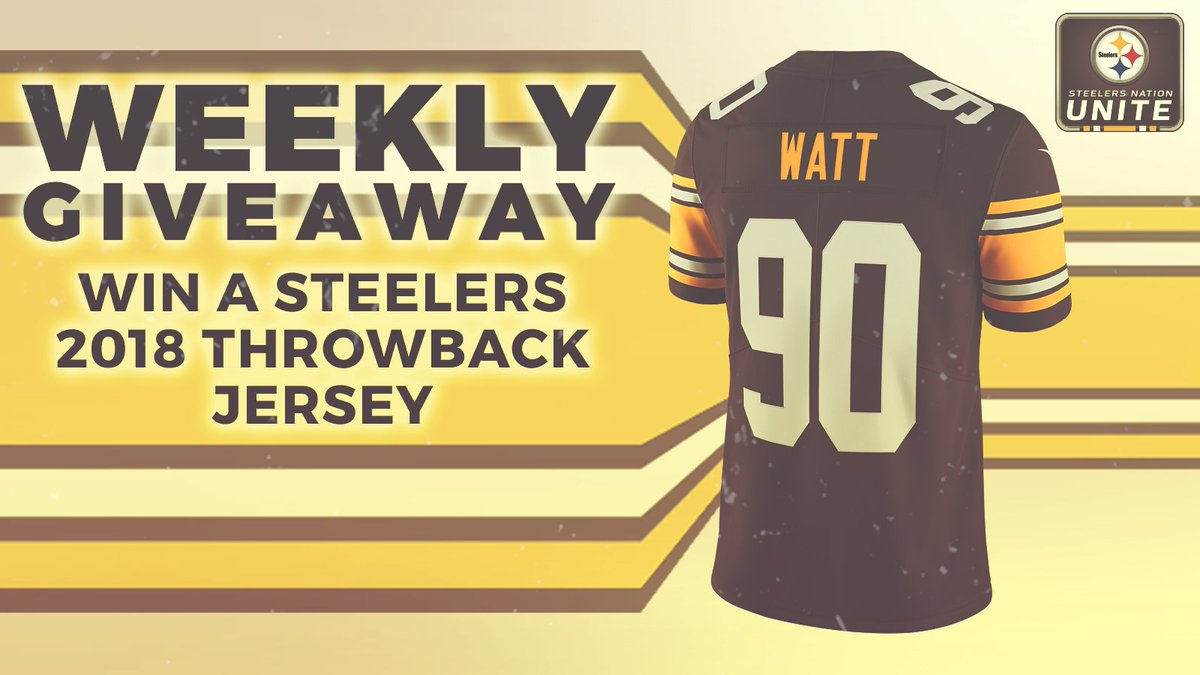 Want to rock a T.J. Watt throwback jersey? Were giving one away this week! ENTER ≫ stele.rs/jbiO9p