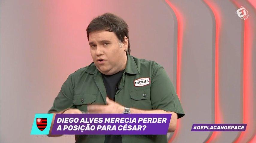 Diego Alves merecia perder a posição para César no gol do Flamengo? Deixe sua mensagem na #DePlacaNoSpace!