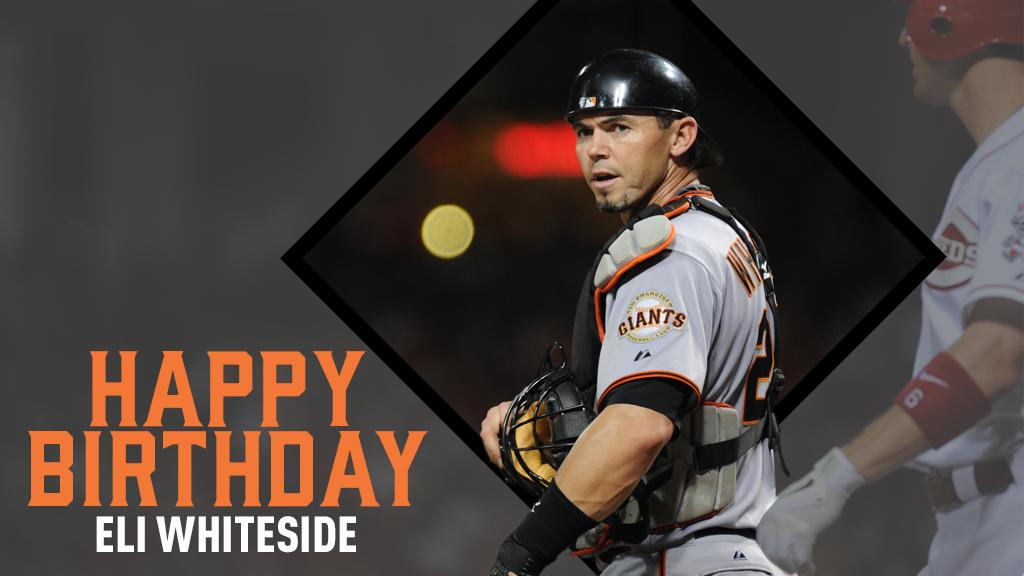 Happy birthday to current bullpen catcher and #ForeverGiant, Eli Whiteside! 🎂 #SFGiants