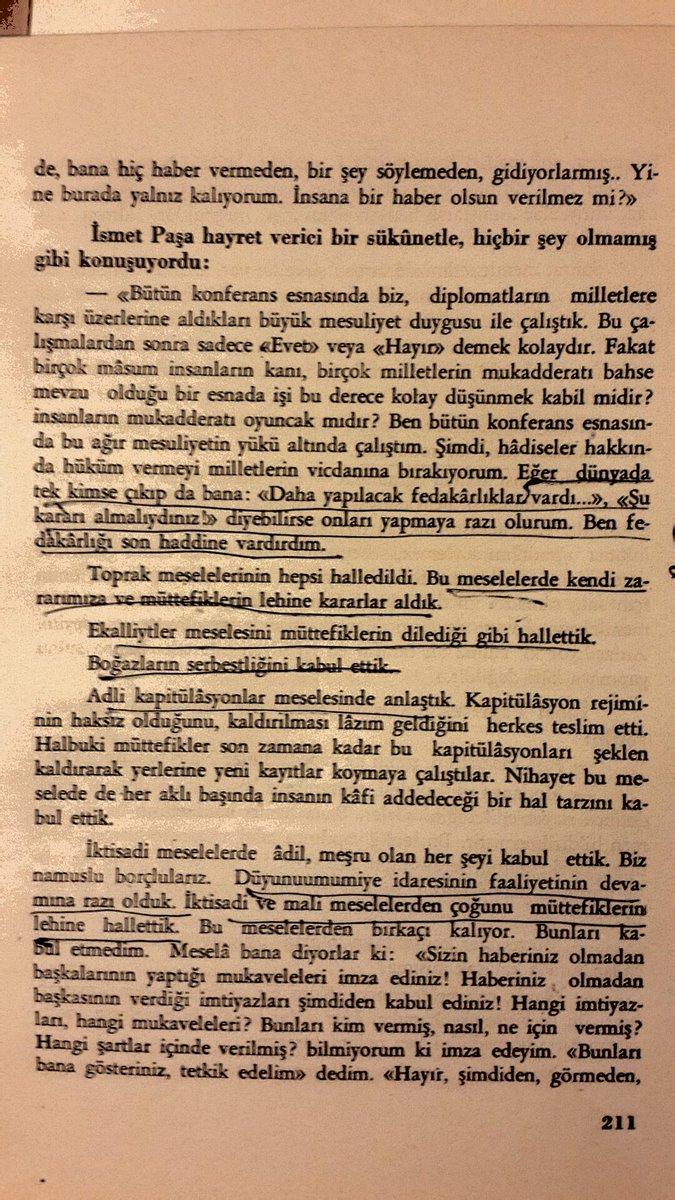İnönü Lozanda ne istedilerse verdim diyor, hem de 5 bin lira para verip yazdırdığı ve devletin parasıyla bastırdığı 1943 tarihli Lozan Konferansı ve İsmet Paşa adlı kitapta. Yazan Milliyetin kurucusu Ali Naci Karacan Buyurun belgeye.