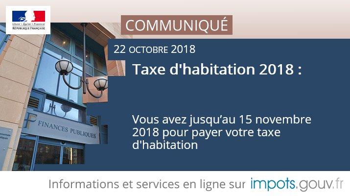 Financespubliquesfr On Twitter Communique Impots Taxehabitation