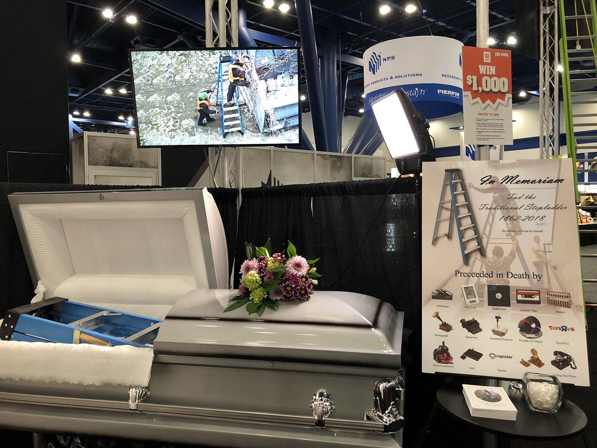 The traditional stepladder is dead—have you said your goodbyes? Visit the memorial at @realLittleGi#NSCexpoant  booth 1635!