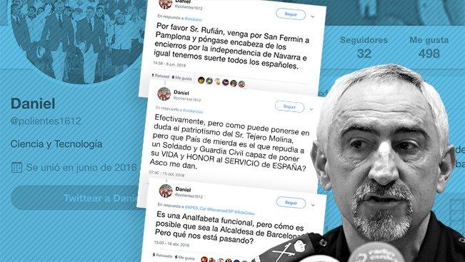 EXCLUSIVA   Una cuenta secreta de Twitter del jefe de la Policía Nacional en Navarra insulta a políticos de izquierdas y nacionalistas https://t.co/KOLlWHT55m Por @pedroagueda