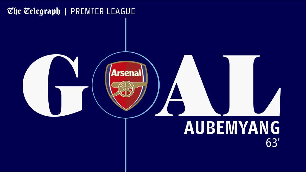 GOAL! Ozil's pass splits Leicester open and Bellerin feeds Aubameyang for a tap in https://t.co/LBGeJtv2SC