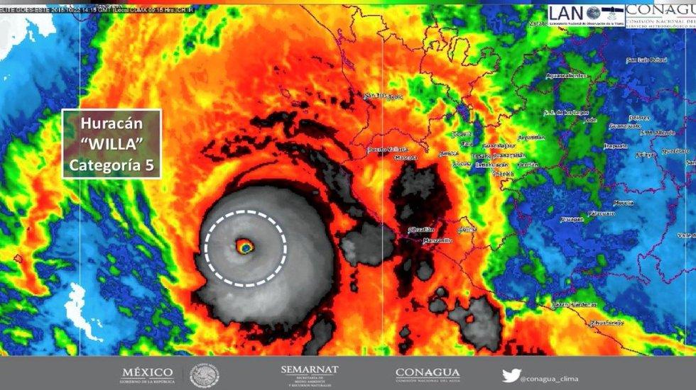 Willa se intensifica a huracán categoría 5  https://t.co/cgxudgv0af