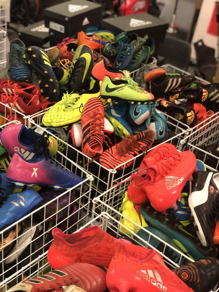 1023 pairs and counting 👣Wow ✨⚽️  So what's next? All the boots will be cleaned, sized and re-laced, with the aim of distributing before Christmas.   The boots will be given to the children in our Carricks Street Reds programme and other Street Reds programmes in Manchester 🐝