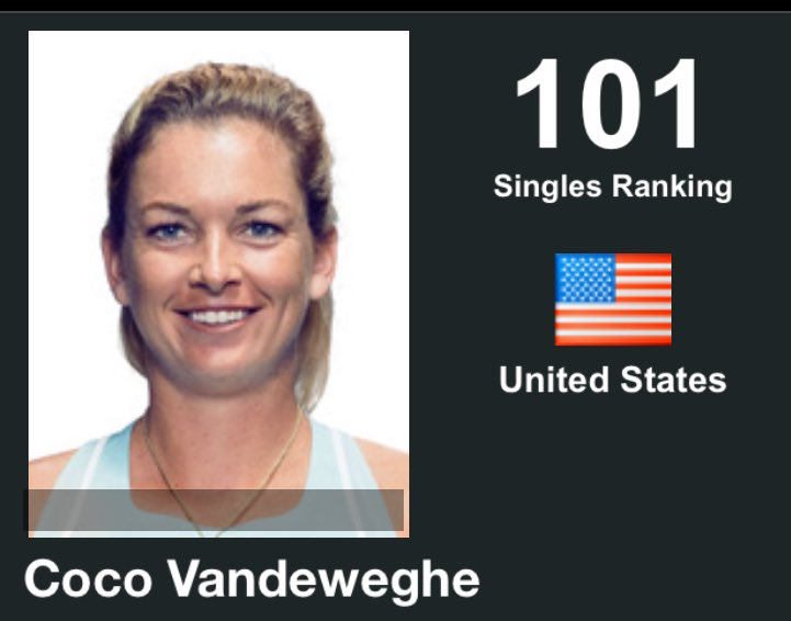 Zhuhai points apparently come off a couple weeks early, which leads to this in today's WTA rankings.  With Australian Open qualifying expanding, Vandeweghe could be on the bubble for main draw now (unless she picks up points this fall).
