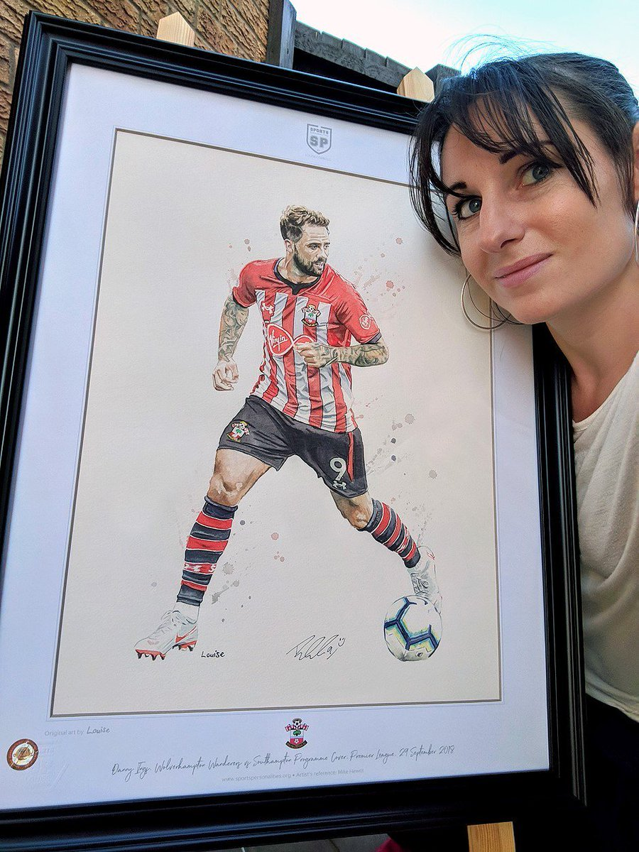 Danny Ings portrait is being auctioned for charity #SaintsFC ow.ly/RYMQ101jpQ3
