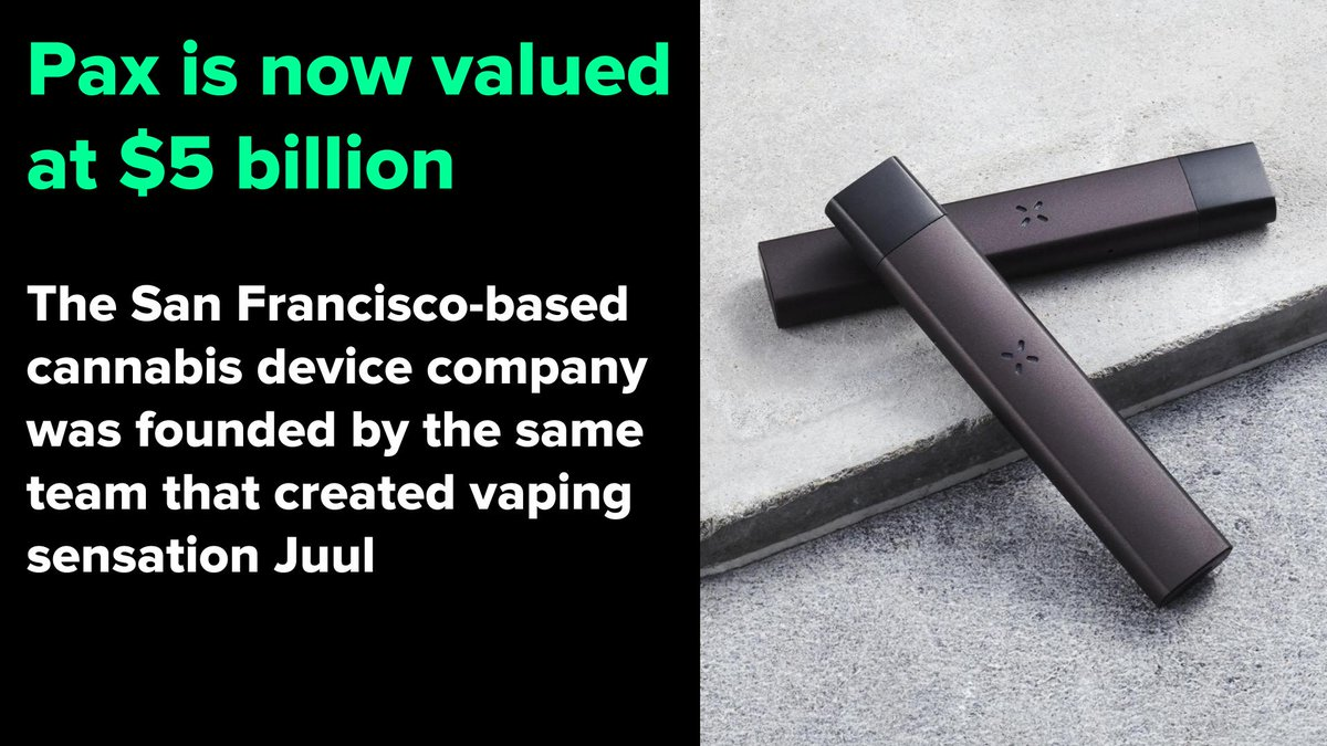 The cannabis device company was founded by the same team that created vaping sensation Juul