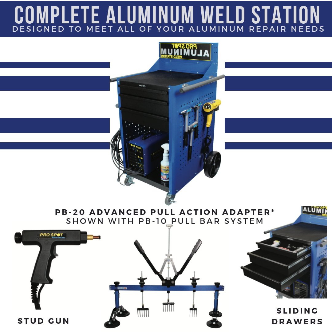 Pro Spot Welding Prospotwelding Twitter Machine Diagram The Complete Aluminum Weld Station Is Designed To Meet All Of Your Repair Needs Different Accessories Are Available Pull Any Dent