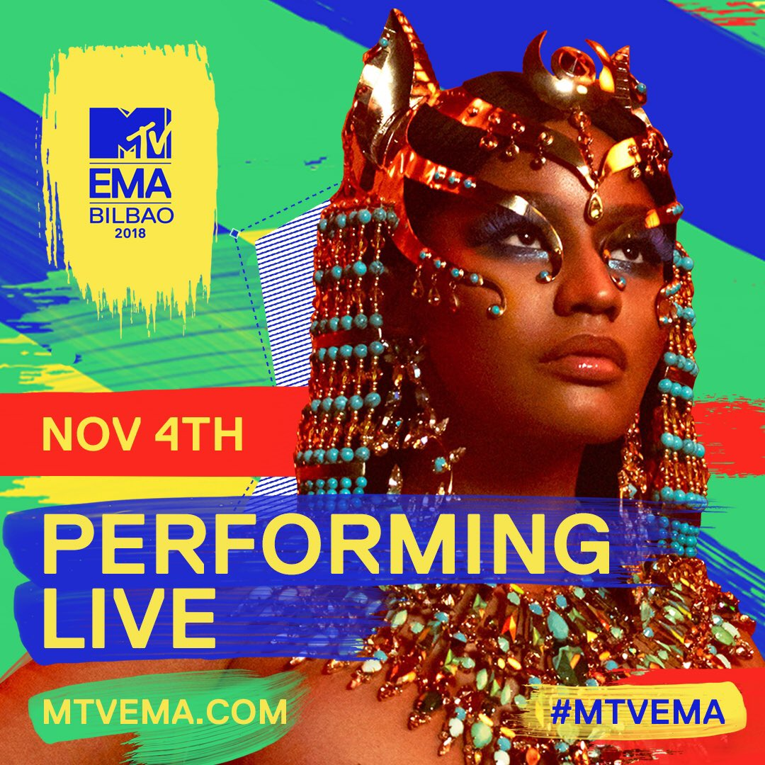 Performing in SPAIN 🇪🇸 on NOV. 4TH!!!!! #MTVEMAS #Tidal #GoodbyeVIDEO OUT NOW✨✨✨