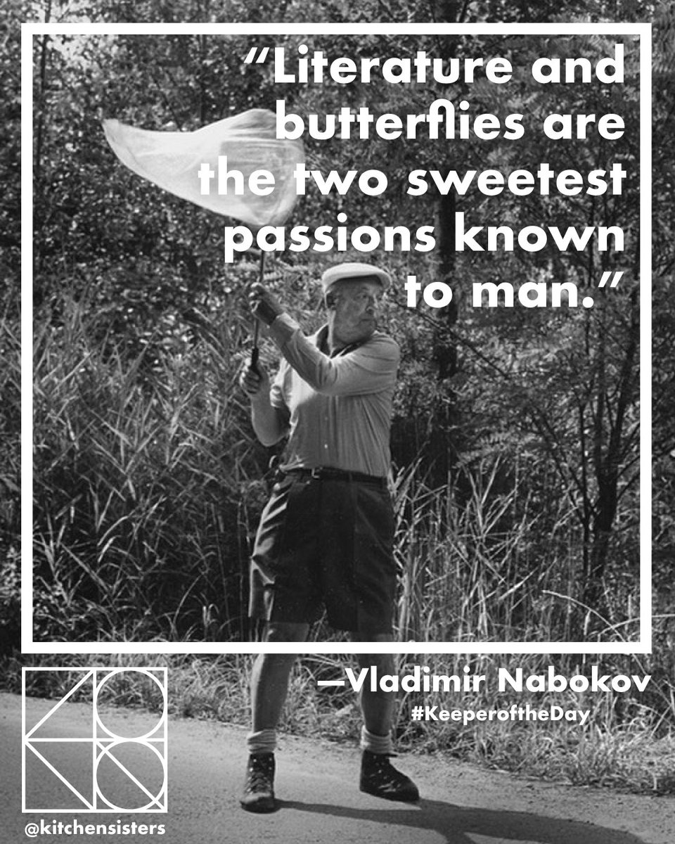 """#KeeperoftheDay """"Literature and butterflies are the two sweetest passions known to man."""" -Vladimir Nabokov"""