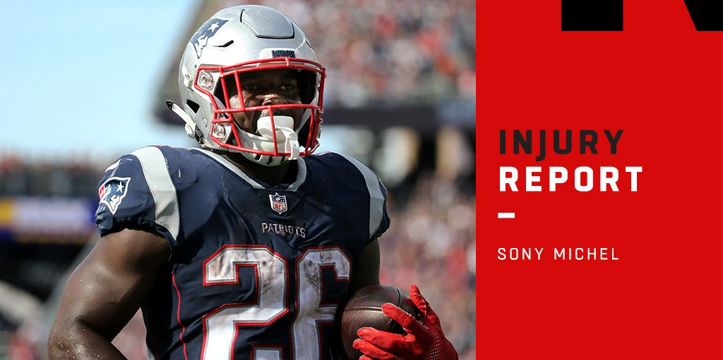 Injuries: Patriots RB Sony Michel's knee injury not considered serious   https://t.co/DSXl8ImSjv