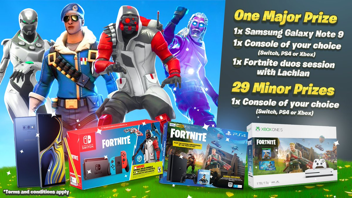 Announcing the first of many Support a Creator backed Giveaways. 30 Fortnite Console bundles to be won with 1 Person taking home the major prize of a new Samsung Note 9 + a duos session with me! Enter here: gleam.io/uZfp2/lachlans… Winners drawn in 7 days :)