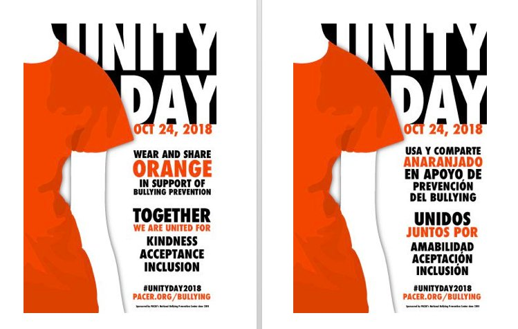 Abingdon will be observing <a target='_blank' href='http://search.twitter.com/search?q=UnityDay2018'><a target='_blank' href='https://twitter.com/hashtag/UnityDay2018?src=hash'>#UnityDay2018</a></a> by wearing orange on Wednesday, Oct. 24th! 🧡 <a target='_blank' href='https://t.co/PJZBkSmls3'>https://t.co/PJZBkSmls3</a>