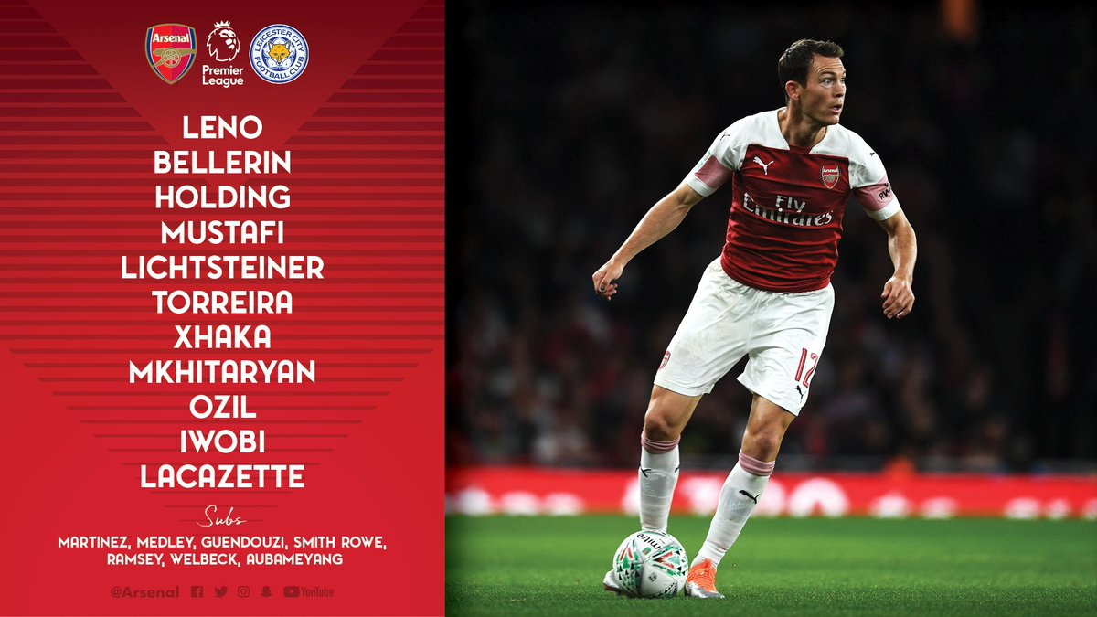 The teams are in - here's how we line up against @LCFC 📋  #ARSLEI