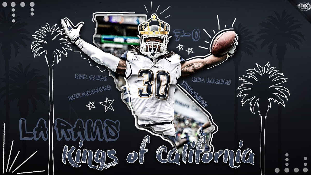 The Undefeated Kings of California 👑  On their way to 7-0, the @RamsNFL defeated the Raiders, Chargers and 49ers.