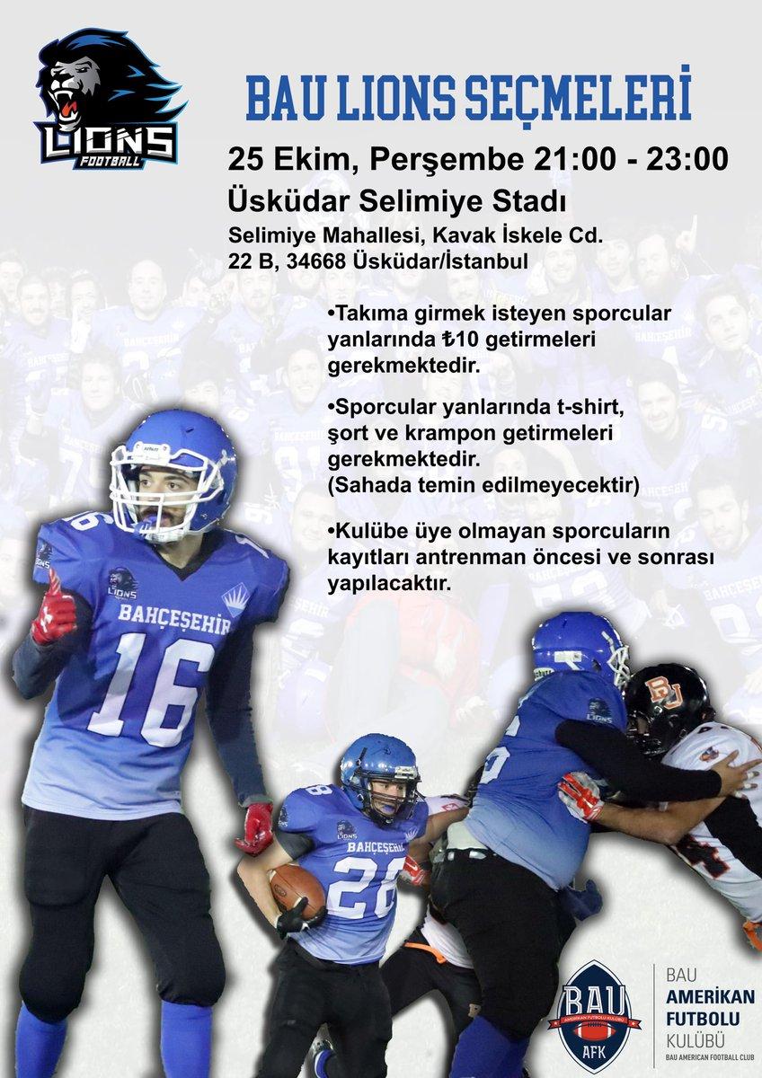 Takıma girmek isteyen sporcular: 25 Ekim Perşembe 21:00 - 23:00  Üsküdar Selimiye Stadı