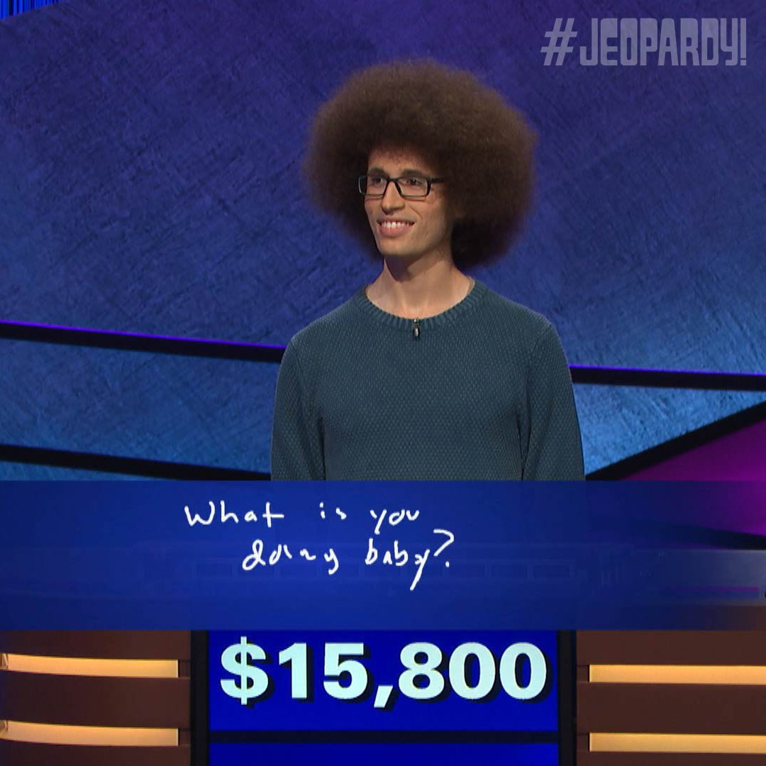 "Examples Of Jeopardy Categories: Jeopardy! On Twitter: ""Erik's Final Jeopardy! Strategy"