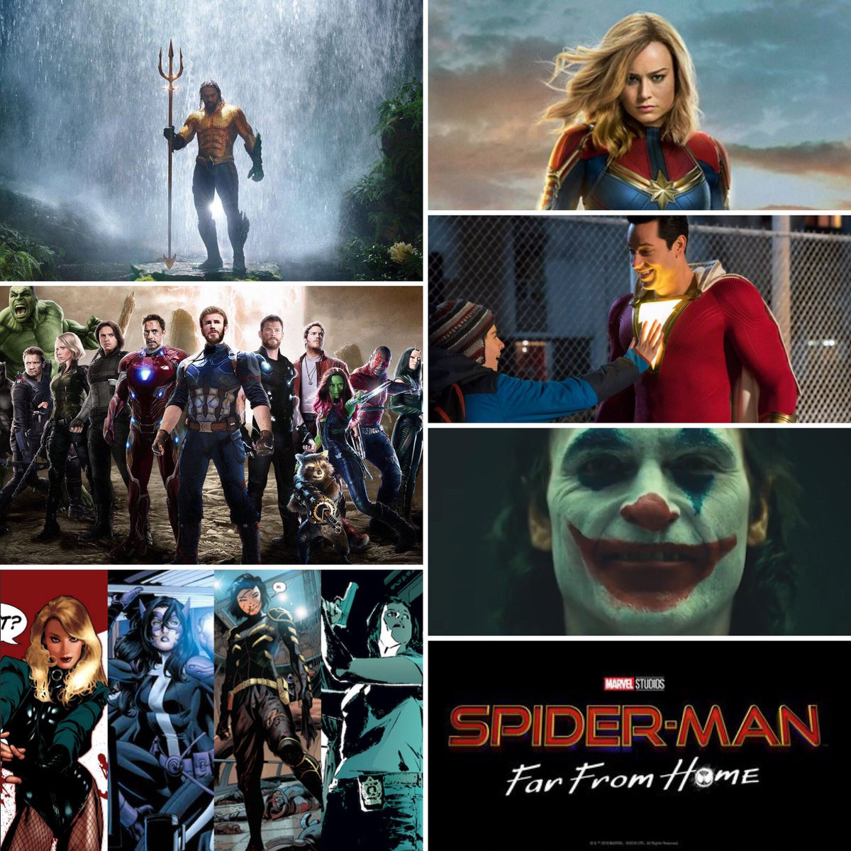 This is why I am perfectly fine seeing #WonderWoman be pushed back for a better slot. We have no shortage of great Comic Book movies coming out. #Aquaman #CaptainMarvel #Shazam #Joker #Avengers #BirdsOfPrey #WW84 #Spiderman