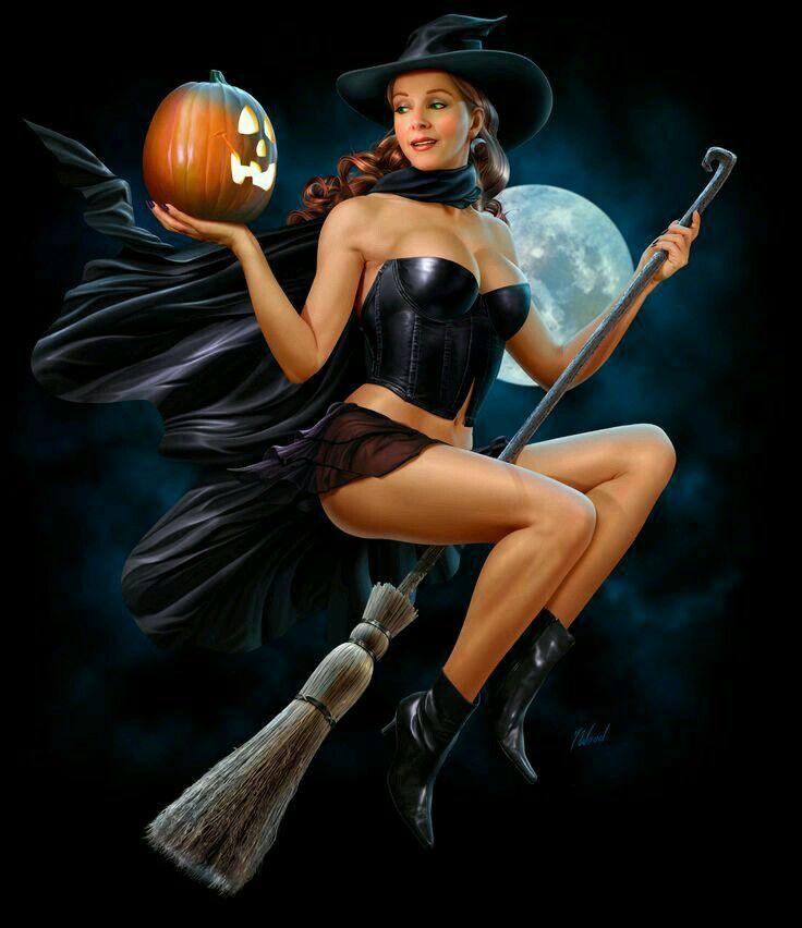 Воскресенье, картинка с ведьмой на метле