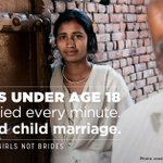 "Image for the Tweet beginning: ""Child marriage is a truly"