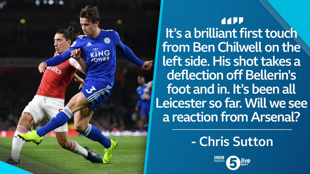 The opening goal has been awarded as a Hector Bellerin own goal. This game is set up beautifully - @AliBruceBall 📲📻⚽bbc.in/2EARViH #ARSLEI