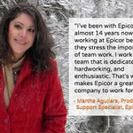 Martha Aguilera has been working for Epicor for almost 14 years now. Let's hear what she says about working at Epicor. Want to have a rewarding career in product support? Check our career site https://t.co/GZH2L6PBwN #mondaymotivation