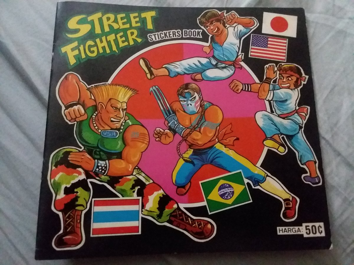 I found this street fighter stickers book at a con yesterday something seems a little off though other then not having stickers in it