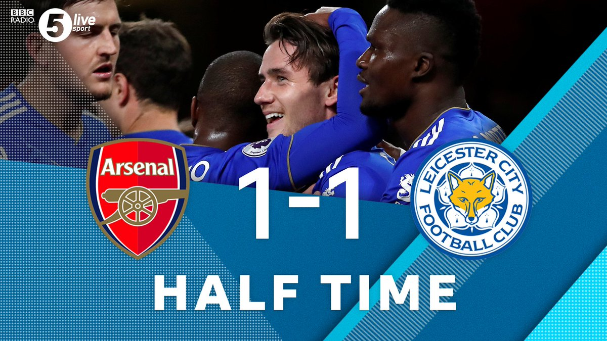 HT: Arsenal lucky to be level? Its going to be a sensational second-half - Chris Sutton 📲📻⚽bbc.in/2EARViH #ARSLEI