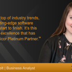 Elizabeth Van Pelt, one of our Business Analysts, describes Datix's focus on #software innovation. #Epicor #ERP