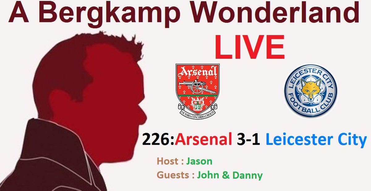 #ABWLive 226 - #Arsenal 3-1 #LeicesterCity (#PremierLeague) #YouTube youtube.com/watch?v=pE-rXN… #Soundcloud soundcloud.com/a-bergkamp-won… #iTunes itunes.apple.com/gb/podcast/a-b… #ABW abergkampwonderland.co.uk/abwlive-226-ar… #Football #Soccer #Podcast #ARSLEI #Lacazette #Aubameyang #10inarow #Leno #Ozil #AFC
