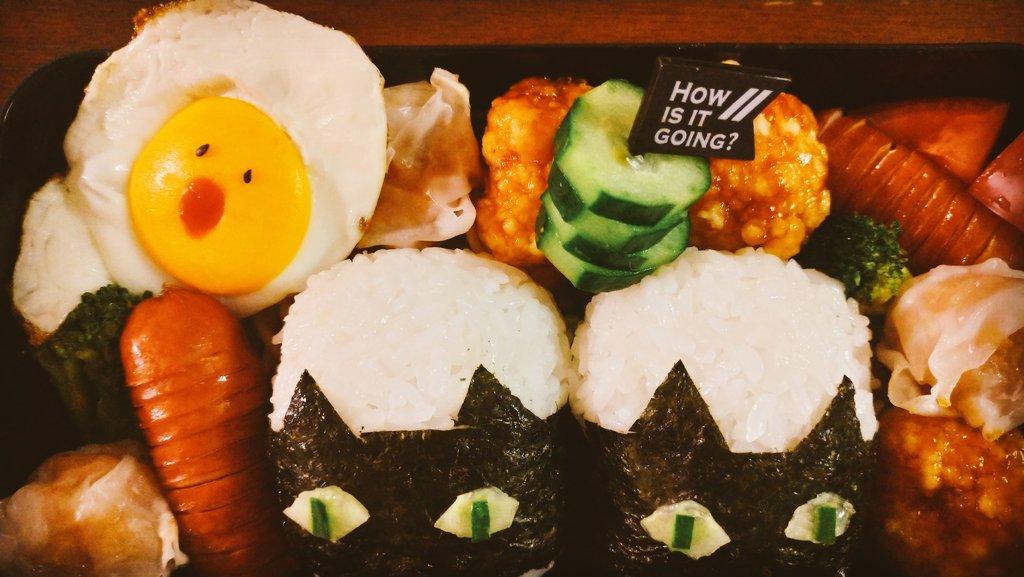 こっちでも(^-^) SCREAM目玉焼き🍳👻😱笑 海苔カットが雑すぎですが!笑 #OnigiriAction