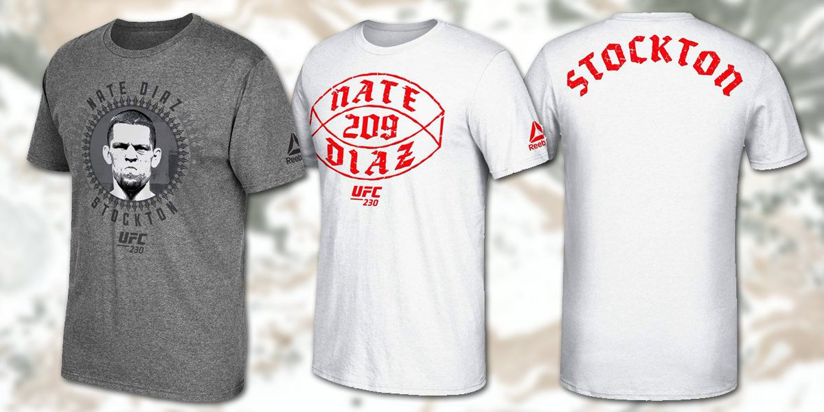 The new @Reebok @NateDiaz209 shirts are here! Check out the Mean Mug and #Stockton #209 shirts! http://bit.ly/2CYfVec #UFC #MMA