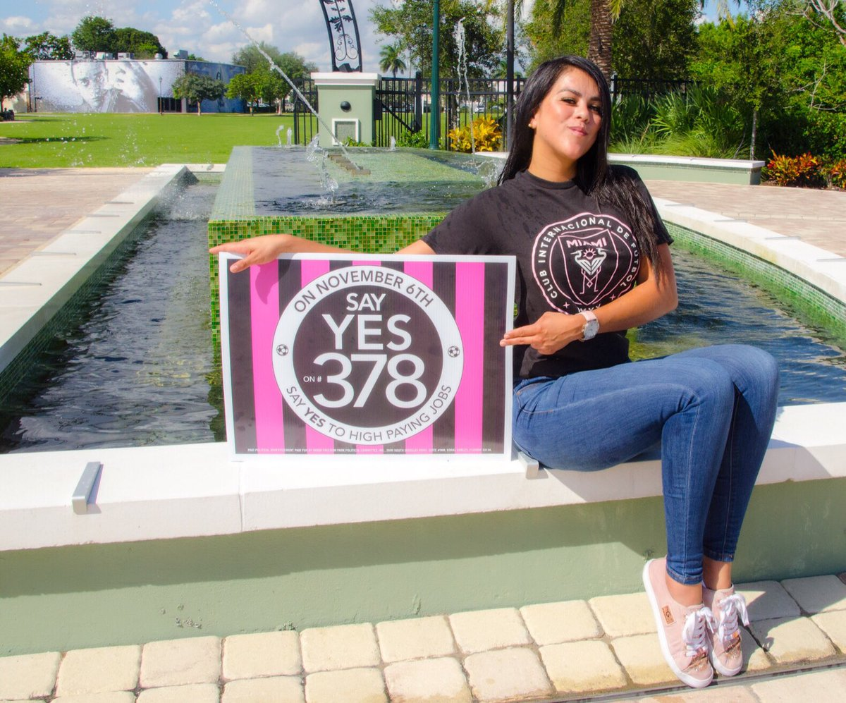 All #InterMiamiCF fans! Vote #YesOn378 if you live in the city of Miami and even if you don't, tell your friends and family that do! ¡VAMOS MIAMI! #VotaSiA378  .  📸 @mrivera2010