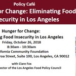 Image for the Tweet beginning: Don't miss the #HungerforChange policy