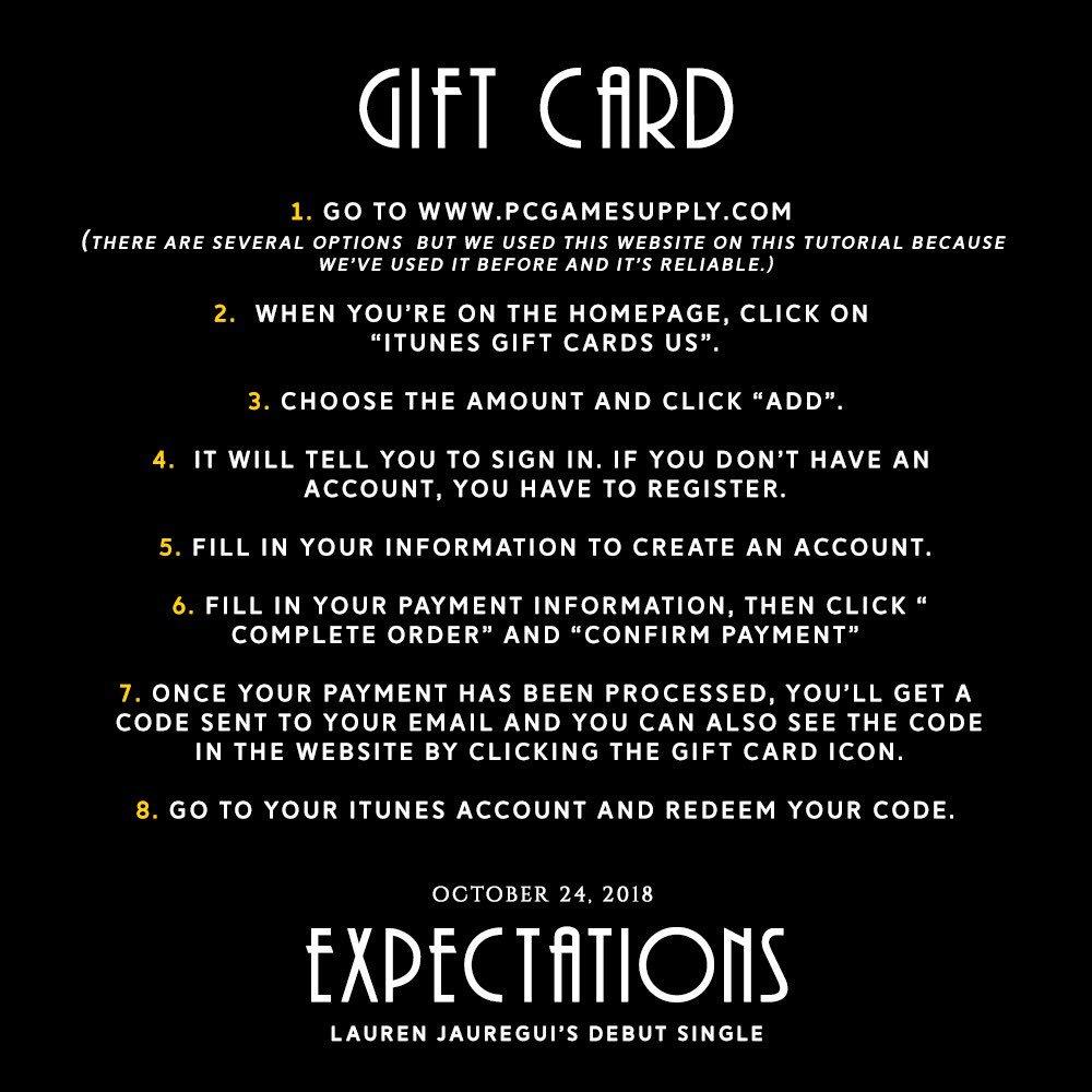 Lauren Jauregui Updates On Twitter How To Help Expectations Buy A Itunes Gift Card Us 5 341 Pm 22 Oct 2018