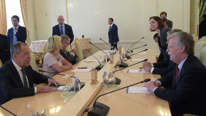 Болтон провёл переговоры с Лавровым и Патрушевым. В Совбезе РФ подчеркнули, что расторжение ДРСМД станет серьёзным ударом для международной системы нераспространения вооружений https://t.co/xZsh0YYi9Z