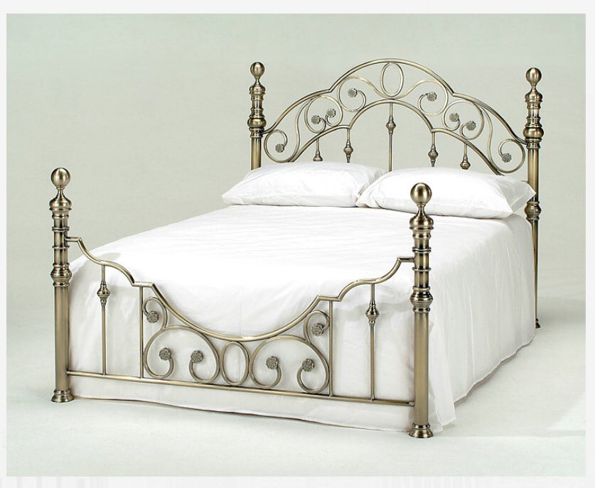 Florence - Luxury Metallic Bed Sale Price £269.99 The Florence is a wonderfully crafted brass finish metal bed frame that is sure to add a touch of class to any sleeping space. #beds #doncaster