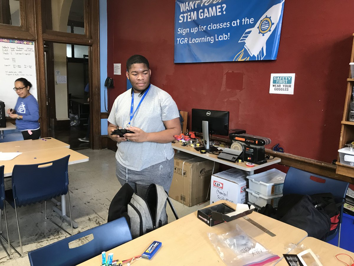 Building & testing drones are elements of a typical day in our satellite TGR Learning Lab STEM programs @CRPHS. Students recently learned about circuitry & are pictured sewing circuits on sports caps. Thanks to our partner @usli150 for their support of the program. #ReachMillions