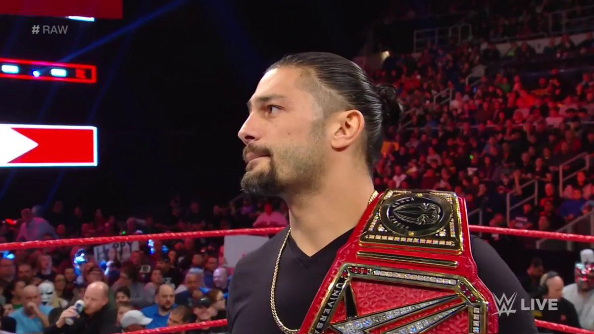 'I've been living with leukemia for 11 years, and unfortunately it's back...I'm going to have to relinquish the Universal Championship.' - @WWERomanReigns #RAW