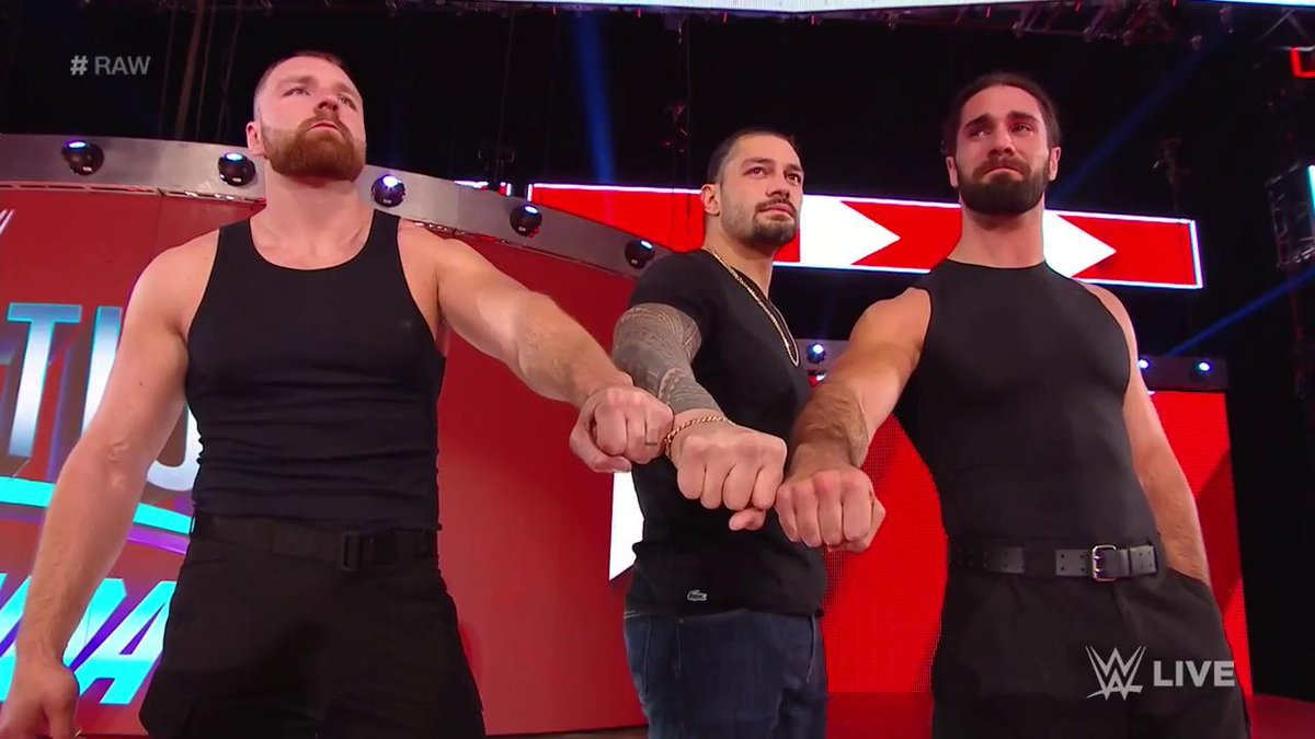 There's no brotherhood greater.  #Raw @WWERomanReigns @TheDeanAmbrose @WWERollins