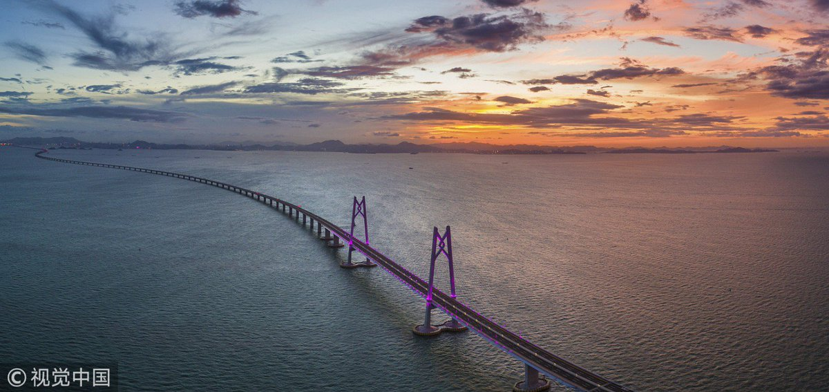 All eyes are on the 55-km Hong Kong-Zhuhai-Macao Bridge, the world's longest sea bridge, which is scheduled to open tomorrow! #AmazingChina #HZMB
