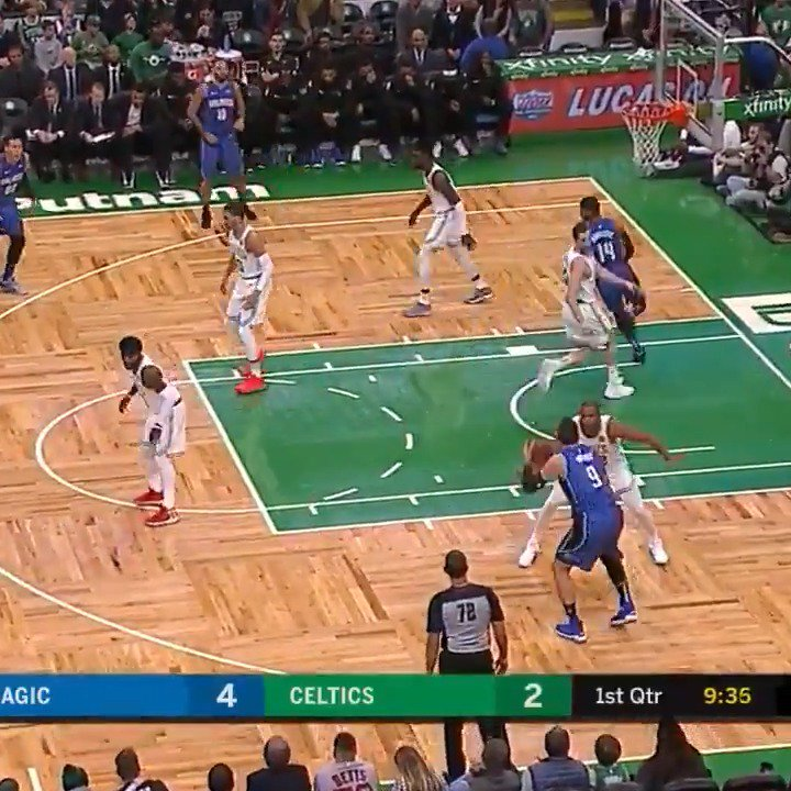 Nikola Vucevic follows up his triple-double performance on Saturday with a 24p, 12r outing in Boston! #PureMagic https://t.co/Am3oyGfz5C