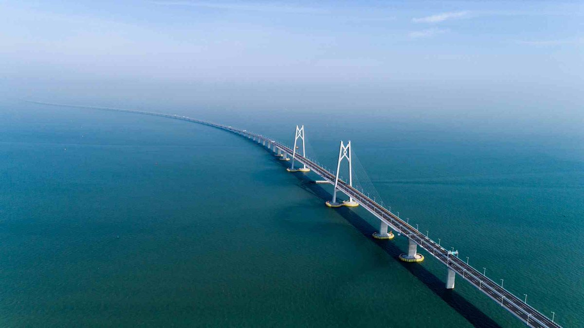 President Xi Jinping on Tuesday announced the opening of the Hong Kong-Zhuhai-Macao Bridge #HZMB () in Zhuhai City, Guangdong Province. The 55-km-long bridge will open to traffic at 9 am on Wednesday after nearly nine years of construction