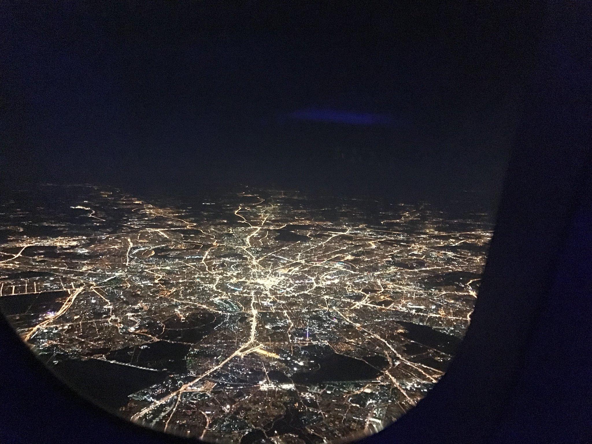 вас фотографии из окна самолета ночная москва самый старый